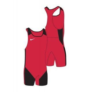 WOMENS WEIGHTLIFTING SINGLET RED/BLACK