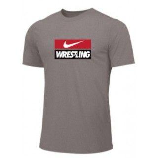 NIKE WRESTLING TRAINING TEE GRAY WR10