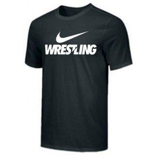 NIKE WRESTLING TRAINING TEE BLACK WR02