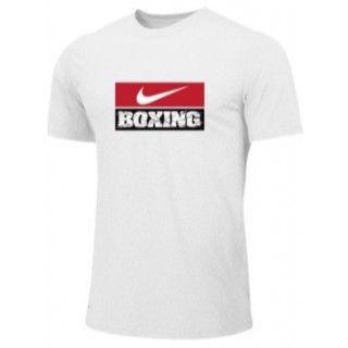 NIKE BOXING TRAINING TEE WHITE BX03
