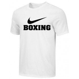 NIKE BOXING TRAINING TEE WHITE BX01
