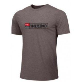 NIKE BOXING TRAINING TEE GRAY BX07