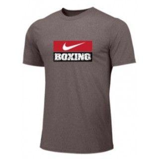 NIKE BOXING TRAINING TEE GRAY BX03