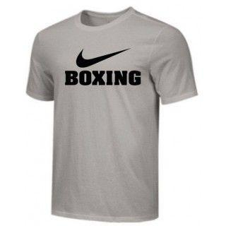 NIKE BOXING TRAINING TEE GRAY BX01