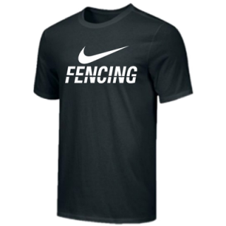 NIKE FENCING TRAINING TEE BLACK FE02