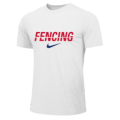 NIKE FENCING TRAINING TEE WHITE FE11