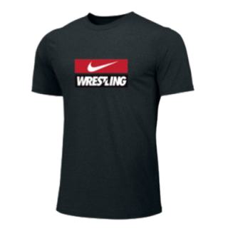 NIKE WRESTLING TRAINING TEE BLACK WR10