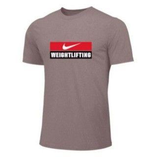 NIKE WEIGHTLIFTING TRAINING TEE GRAY WL03