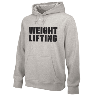 NIKE WEIGHTLIFTING TRAINING HOODIE GREY WL02