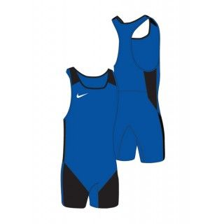 WOMENS WEIGHTLIFTING SINGLET BLUE/BLACK Nike - 1